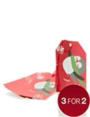 6 Festive Penguins Christmas Gift Tags