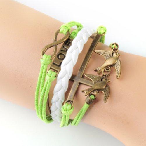 GURAIO Fasion Charm Suede Wrap Bracelet Gift