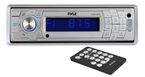 Pyle Plmr17Bts Am/Fm-Mpx In-Dash Marine Detachable Face Radio With Sd/Mmc/Usb Player And Bluetooth Wireless Technology