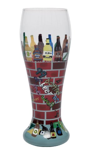 Lolita Hand Painted Pilsner Glass, 99 Bottles Of Beer