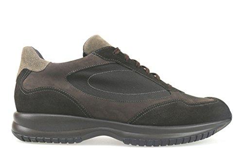 scarpe uomo SANTONI 45 sneakers marrone camoscio tessuto AK707