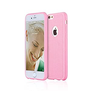 Best iPhone 6 / 6s Plus Thin TPU Full Cover Case (Pink), Unique Mesh Backing for Slim Profile, Solid Protection or Your Money Back! Free Bonus Tempered Glass & More, Protect & Defend By Armour Shell.