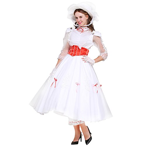 Halloween 2017 Disney Costumes Plus Size & Standard Women's Costume Characters - Women's Costume Characters CosplayDiy Women's Costume Jolly Holiday Dress for Mary Poppins - Standard and Plus Size 0/2 - 26/28