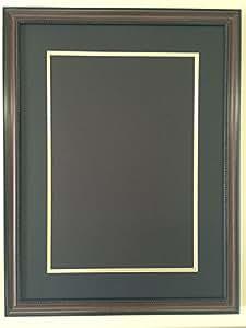 Amazon Com 18x24 Walnut Brown Beaded Frame With Black