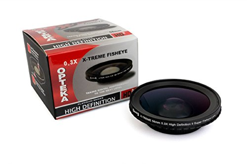 Opteka 58mm 0.3X HD2 X-TREME Super Fisheye Lens for JVC GR-DVF31 - DVL12 - DVL20 - DVL25 - DVL28 - DVL30 - DVL33 - DVL38 - DVL40 - DVL45 - DVL48 - FX10 - FX102 - FX11 - FX12 - FX120 - FX14 - FX15 - FX220 - FX23 - FX30 - FX305 - FX33 - FX36 - FX40 - FX405 - FX43 - FX50 - FX505 - FX53 - FX60 - FXM106 - FXM15 - FXM16 - FXM161 - FXM17 - FXM170 - FXM25 - FXM270 - FXM333 - FXM35 - FXM37 - FXM373 - FXM38 - FXM383 - FXM39 - FXM393 - FXM45 - FXM55 - FXM555 - FXM66 - FXM75 - SX140 - SX20 - SX202 - SX21 - SX210 - SX22 - SX24 - SX25 - SX41 - SX51 - SX52 - SX56 - and