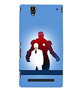 printtech Superhero Avengers Back Case Cover for Sony Xperia T2 Ultra::Sony Xperia T2 Ultra Dual