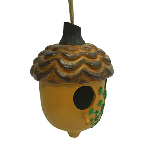 wildbird-care-resin-acorn-hanging-bird-house-with-leaf-pine-nut