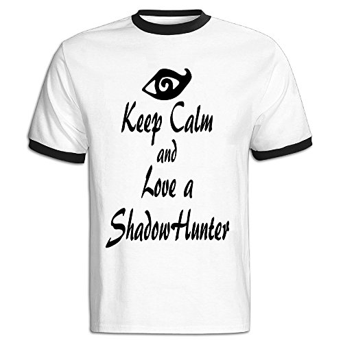Youqian Shadowhunters Lover Men's T-Shirt Large Black Mens (Shadowhunter Gear compare prices)