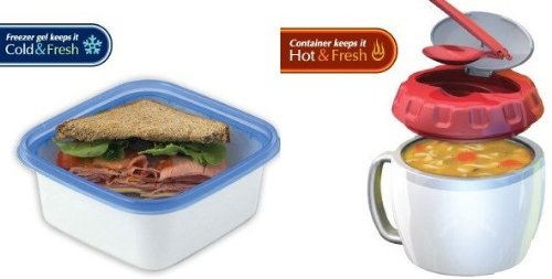 Stay-Fit Lunch to Go Sandwich and Soup Container Combo