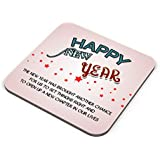Red Star And White Colour Coaster Gift For New Year