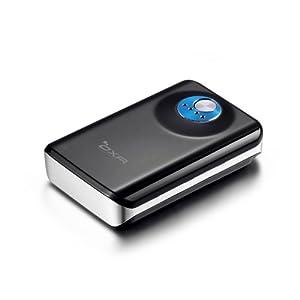 OXA 7800mah Portable Mini Stylish Dual DC 5.0V 1A USB Externer Akku Powerbank (High Light LED Flashlight) Ladegerät für iPad, iPhone, Android Phones Tablets, Smartphone, Handy, PSP, GoPro, GPS [Farbe: Schwarz]