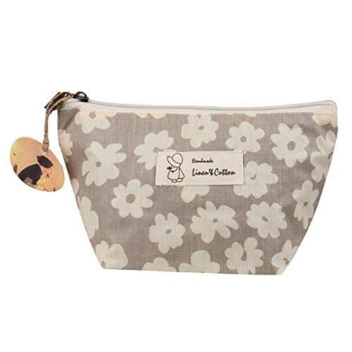 Beauty Case, Culater® caso di trucco borsa da viaggio portatile cosmetico sacchetto della toilette Wash Organizer (Beige)