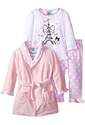 Baby Bunz Baby Girls' 3 Piece Paris Dreamer Robe and Pajama Set