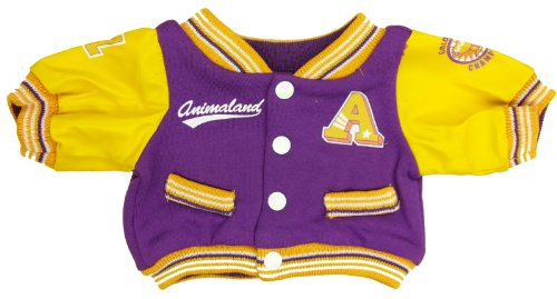 Purple-Letterman-Jacket-Fits-Most-14-18-Build-a-bear-Vermont-Teddy-Bears-and-Make-Your-Own-Stuffed-Animals