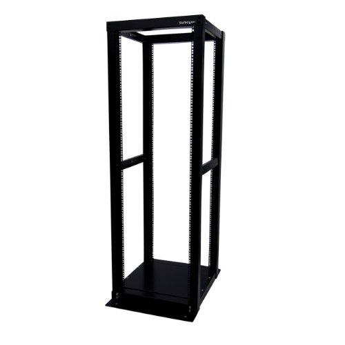 StarTech.com 4POSTRACK36 36U Adjustable 4 Post Server Equipment Open Frame Rack Cabinet (Black)
