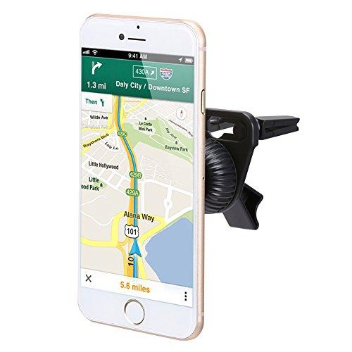 iKross supporto auto Air Vent supporto magnetico per cellulare universale per Apple Iphone 7/6S/6/5s/5C/5, Samsung Galaxy S7/S6/s5, Motorola, Sony, LG, HTC, Nokia smartphone, colore: nero