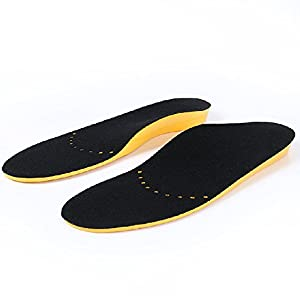Pair Breathable Flatfoot Hind Foot Valgus Orthotic Insoles with Arch