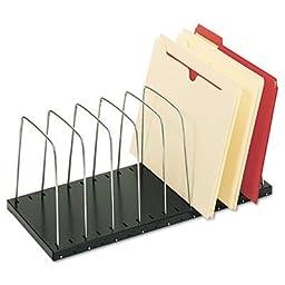 Steelmaster - Wire Desktop Organizer Eight Sections 18 3/8 X 8 1/2 X 7 3/4 Black/Silver \