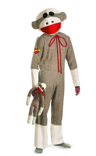 Disguise Unisex - Adult Sock Monkey