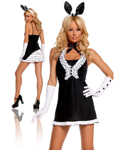 Adult-Costume Black Tie Bunny Md Halloween Costume - Adult Medium