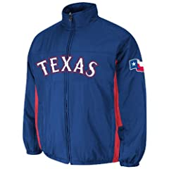 Texas Rangers Royal Authentic Triple Climate 3-In-1 On-Field Jacket by Majestic by Majestic