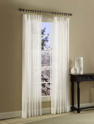 stylemaster splendor pinch pleated drapes 120 by 84 inch white new free shi ebay. Black Bedroom Furniture Sets. Home Design Ideas