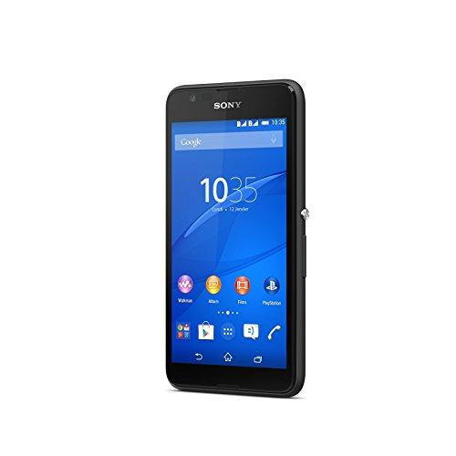 SONY Xperia E4g - schwarz - 4G - 8 GB - Dual SIM-Smartphone (XPERIA E4G-BLACK)