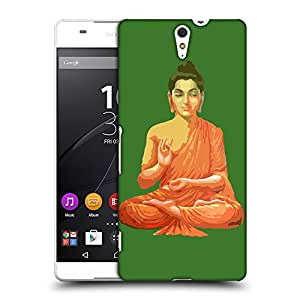 Snoogg Buddha for Peace Green Designer Protective Back Case Cover For Sony Xperia C5 Ultra