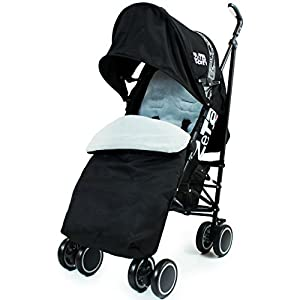 Zeta Citi Stroller Buggy Pushchair - Black (Complete With Footmuff + Raincover) from Baby Travel