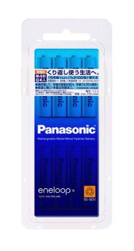Panasonic eneloop 単4形充電池 8本パック スタンダードモデル BK-4MCC/8