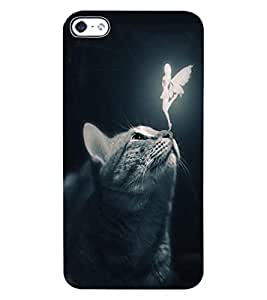 ColourCraft Angel and Cat Design Back Case Cover for APPLE IPHONE 4
