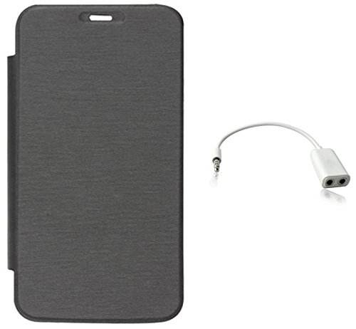 Tidel Black Flip Cover For HTC Desire 820 WITH Audio Spliter  available at amazon for Rs.189