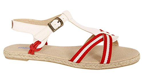 Sandali per Donna MISTRAL YH2353 RED-WHITE size-map 39