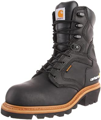 Carhartt Men's CML8221 8 ST Work Boot,Black Oil Tanned,8 M US