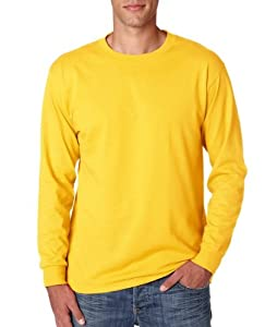 Adult Long-Sleeve Heavyweight Blend T-Shirt (Island Yellow) (Medium)