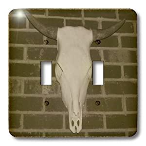 lsp_50767_2 Rebecca Anne Grant Photography Designs Cows Bulls Cattle - Skull With Horns - Light Switch Covers - double toggle switch