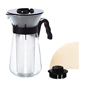Hario VIC-02B 1-Piece Glass Ice-Coffee Maker, Black: Amazon.co.uk: Kitchen & Home