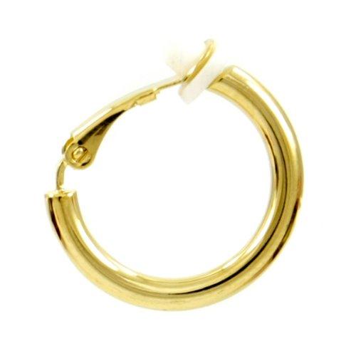 Z461250-SG Mens Single Gold Hoop Clip On Earring