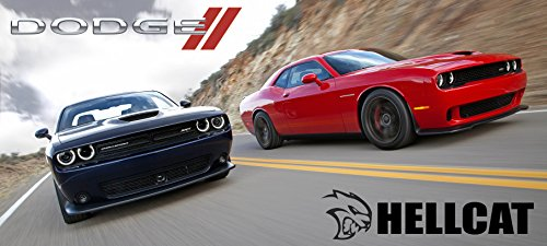2016 Dodge Challenger Hellcat Poster Red Black Srt Mopar Large Charger Muscle Car Viper (Dodge Challenger Poster compare prices)