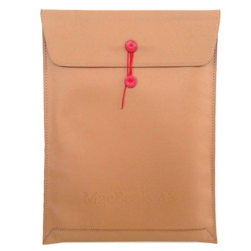 MacBook+Air+13インチ用+(Mid+2013+対応)+封筒型+PUレザー+ケース+キャメル(茶色)