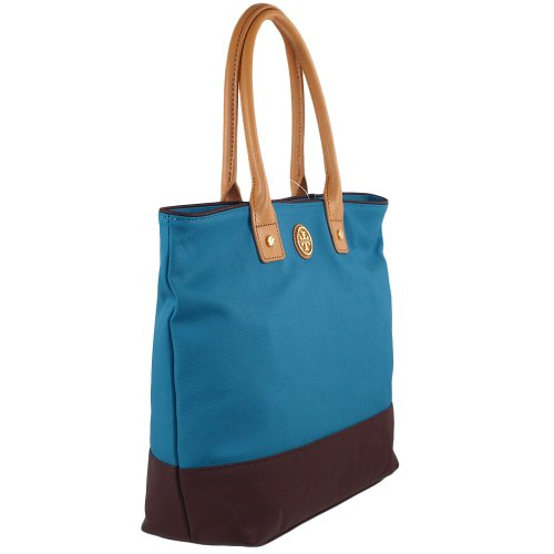 Tory Burch Tory Burch Colorblock Small Jaden Tote Electric Eel Coconut