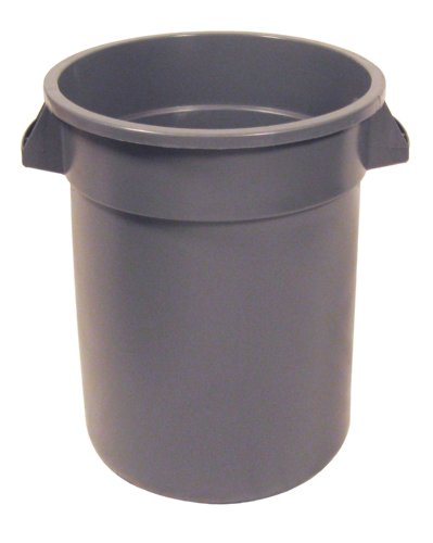 Continental 1001GY 10-Gallon Huskee LLDPE Waste Receptacle, Round, Gray (Number 10 Can Lids compare prices)