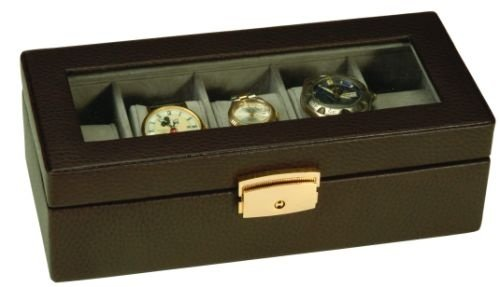 Creative Leather Concepts 5 Slot Watch Box Case