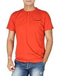 VETTORIO FRATINI By Shoppers Stop - Men's Solid Henley T Shirt