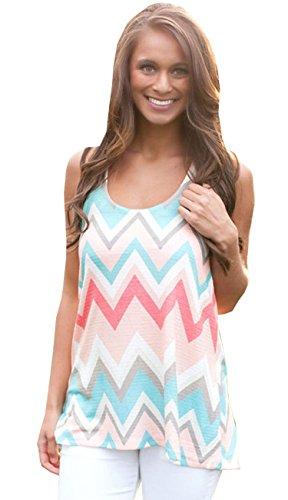 Women Summer Loose Casual Sleeveless Vest Shirt Tops Blouse