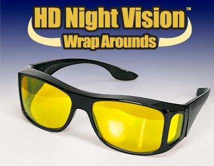 HD Night Vision Wraparounds Glasses