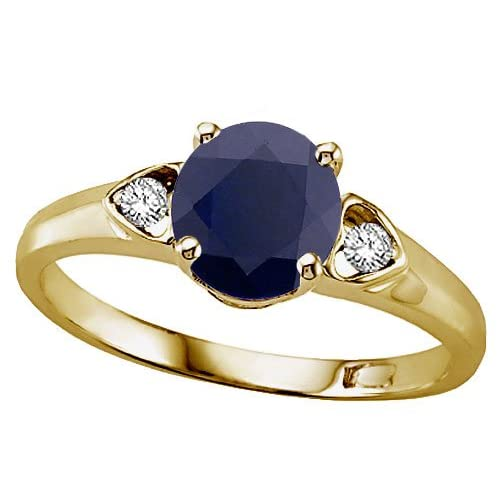 1.54 cts Genuine Sapphire Ring - 14kt White or Yellow Gold