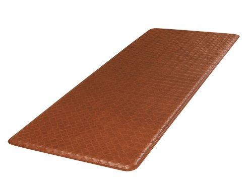 GelPro Plush 20 by 48-Inch Anti Fatigue Kitchen Mat, Basketweave, Hazelnut