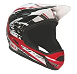 Bell Sanction Full Face Splatter Helmet (Red/Black White, Medium)