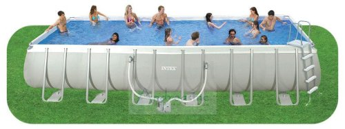 Intex Ultra Frame Rectangular Above Ground Pool, 24' x 12' x 52""